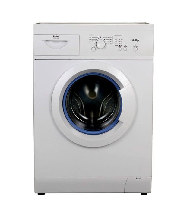 haier 5 5 kg hw55 1010me fully automatic front load washing machine silver price in india buy. Black Bedroom Furniture Sets. Home Design Ideas