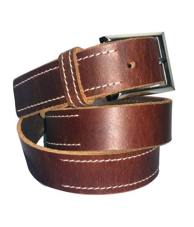 K London Brown Casual Leather Belt