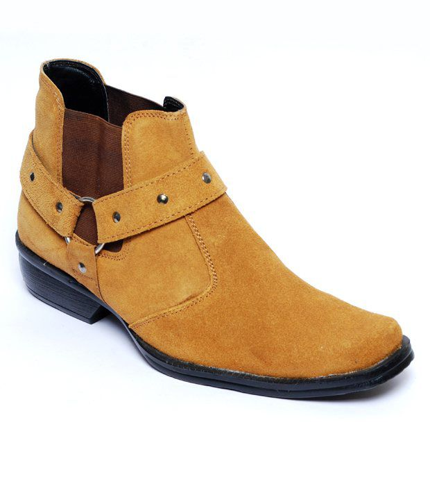 Do Bhai Long Life Tan High Ankle Length Boots