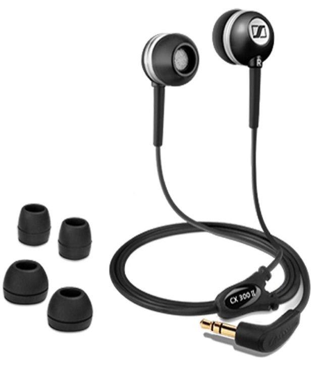 Sennheiser CX300 II In Ear Earphones (Black) Without Mic