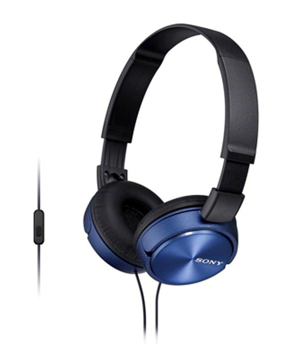 bfe7c8b142d662 Sony MDRZX310AP Over Ear Headphones with Mic (Blue and Black) - Buy Sony  MDRZX310AP Over Ear Headphones with Mic (Blue and Black) Online at Best  Prices in ...