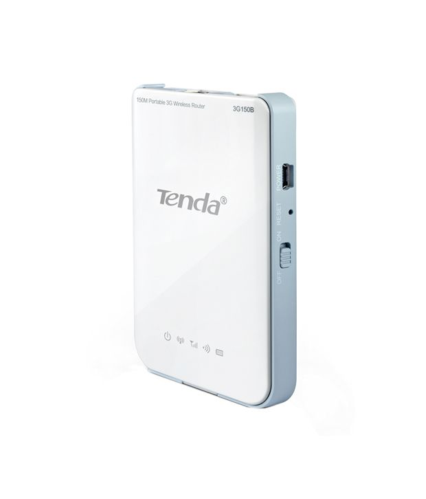 Tenda 150 Mbps Wireless Pocket 3G Router (In-Built Battery Backup) (TE-3G150B)
