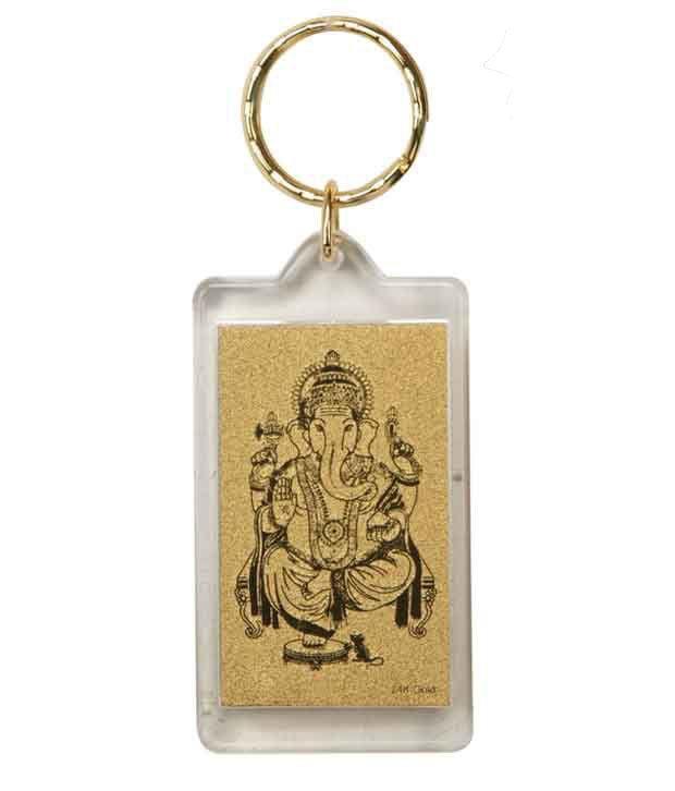 Aarya24kt Ganesha Keychain