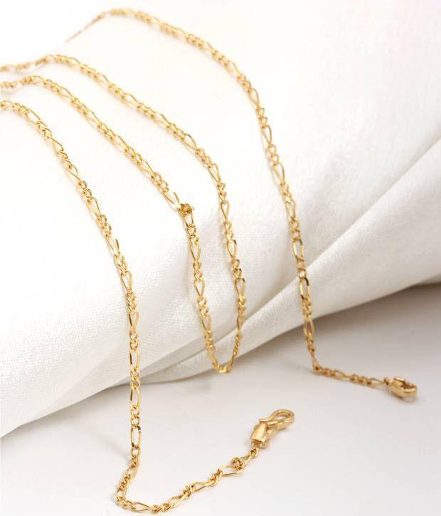 Aiza Interlock Pattern 18kt Gold Unisex Chain