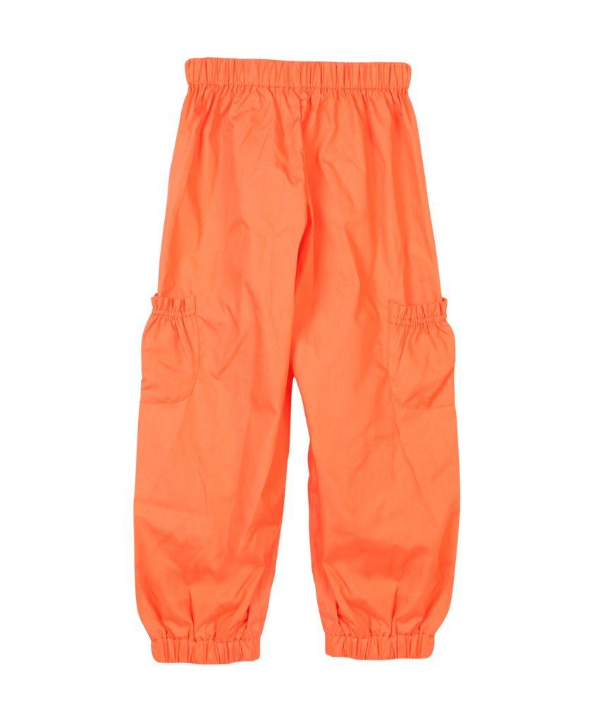 Aomi Zar Girls Casual Pajama Orange