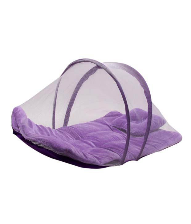 Isabelle Purple Mosquito Net With Mattress & Pillow 2 Pc. Set