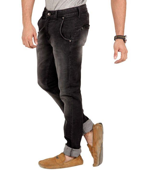 ZAAB Black Cotton Slim Fit Jeans - Buy ZAAB Black Cotton Slim Fit ...