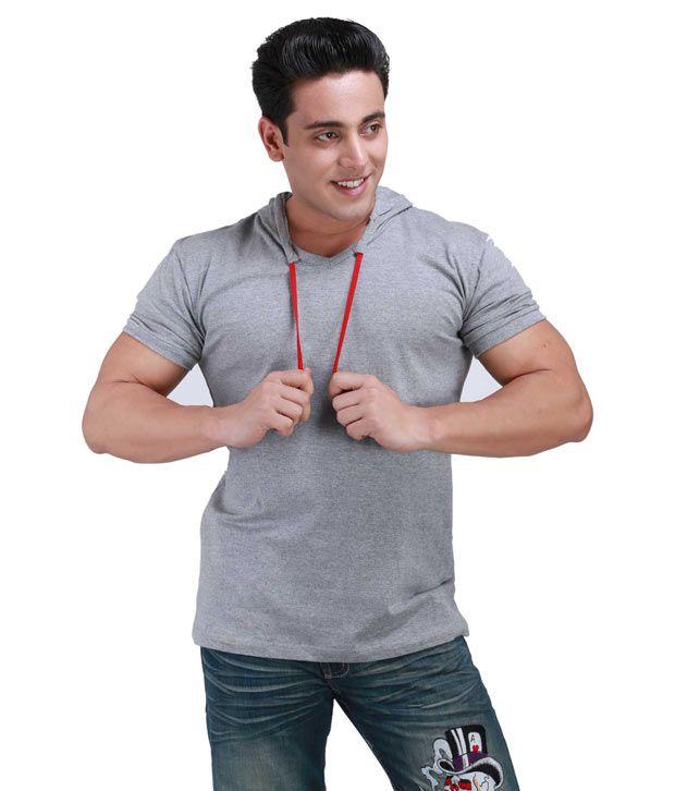 Inkovy Stylish Hood Grey T-shirt