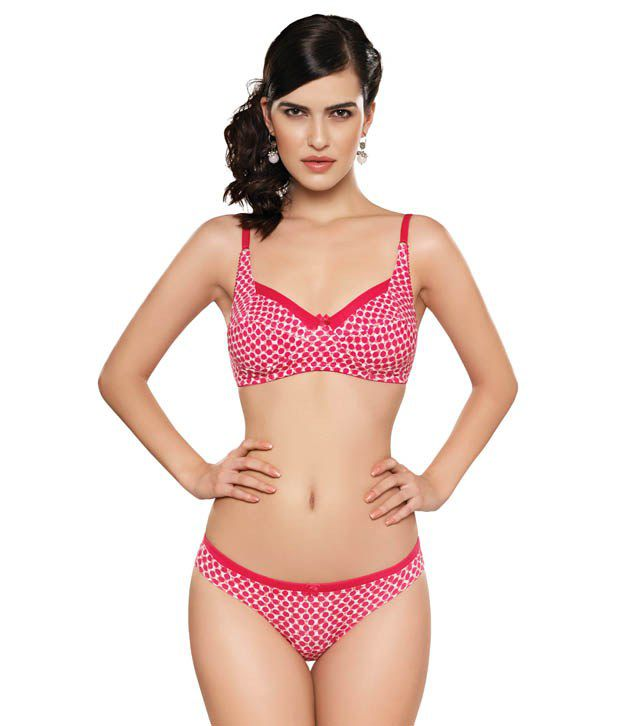 575a7308c94 Buy Inner Sense Red Non-Padded Bra   Panty sets Online at Best Prices in  India - Snapdeal
