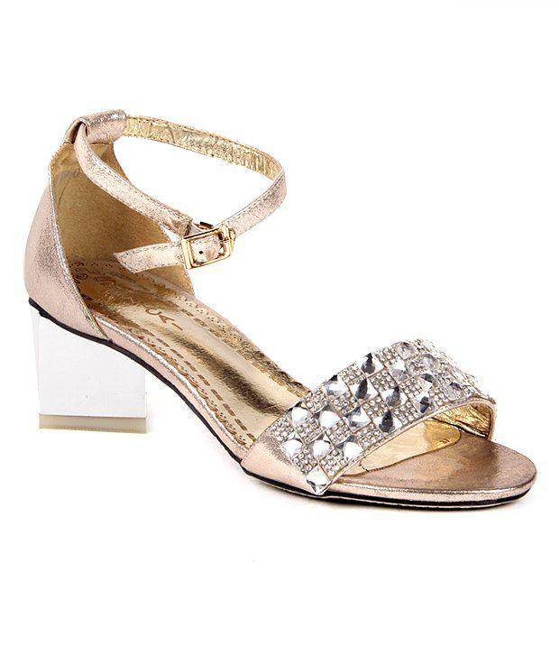 Reyna Splendid Golden Heeled Sandals