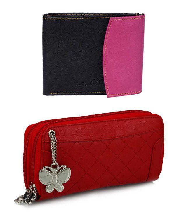 Butterflies Red Wallet