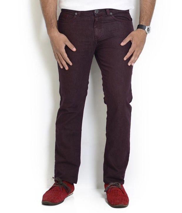 Globus Maroon Regular  Jeans