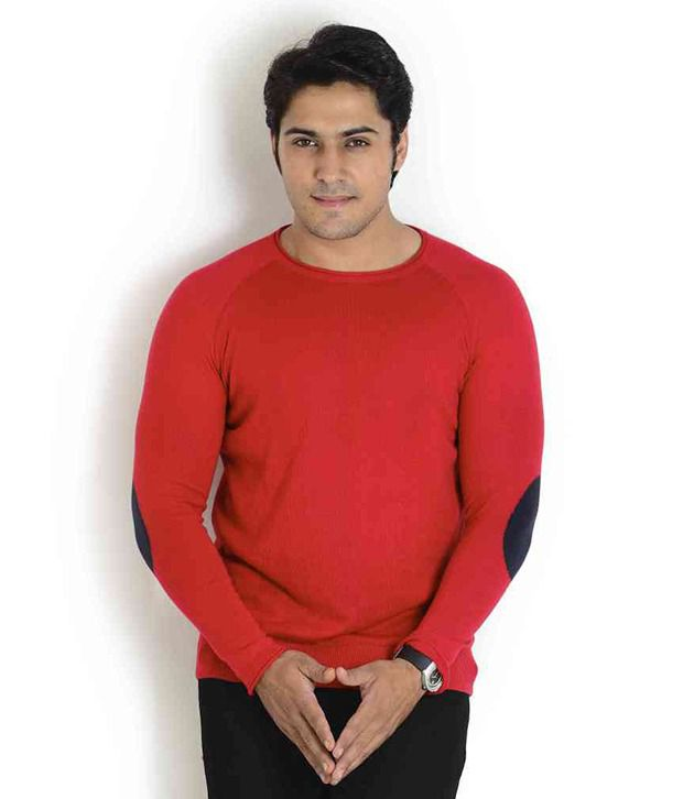 Globus Red Full Cotton Round  T-Shirt