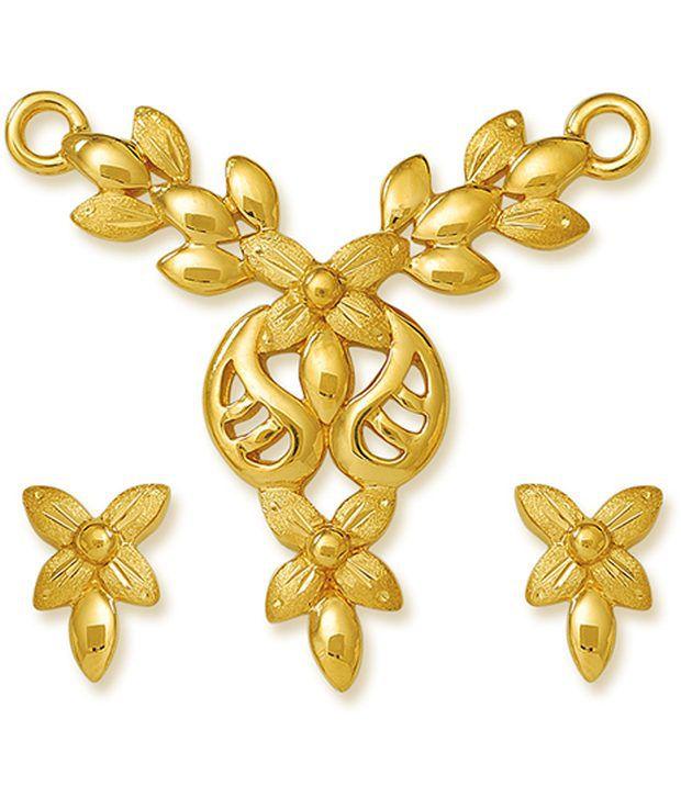 22Kt HALLMARKED Gold with   Signity by Swarovski Mangalsutra   Set by Nishtaa