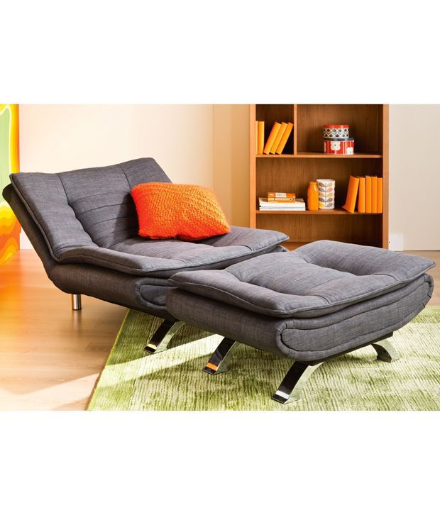 edo sofa cum bed with extra seat amp ottoman   buy edo sofa