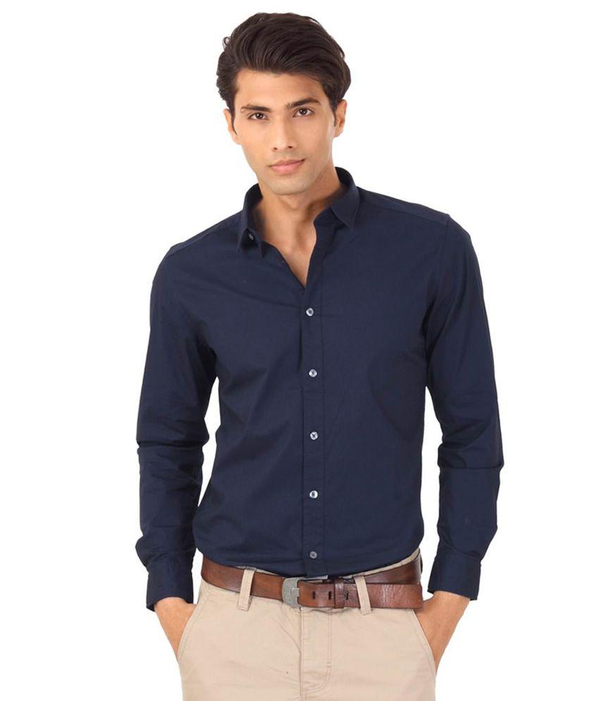 hi lifestyles executive formal navy blue shirt buy hi