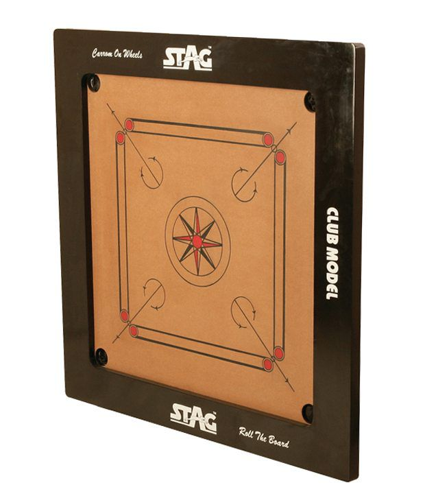 Stag Club Model Carrom Board With Coins