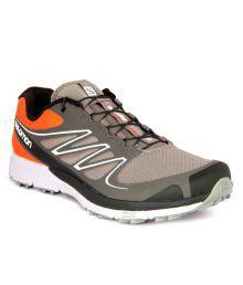 Salomon Sense Grey & Orange Running Shoes