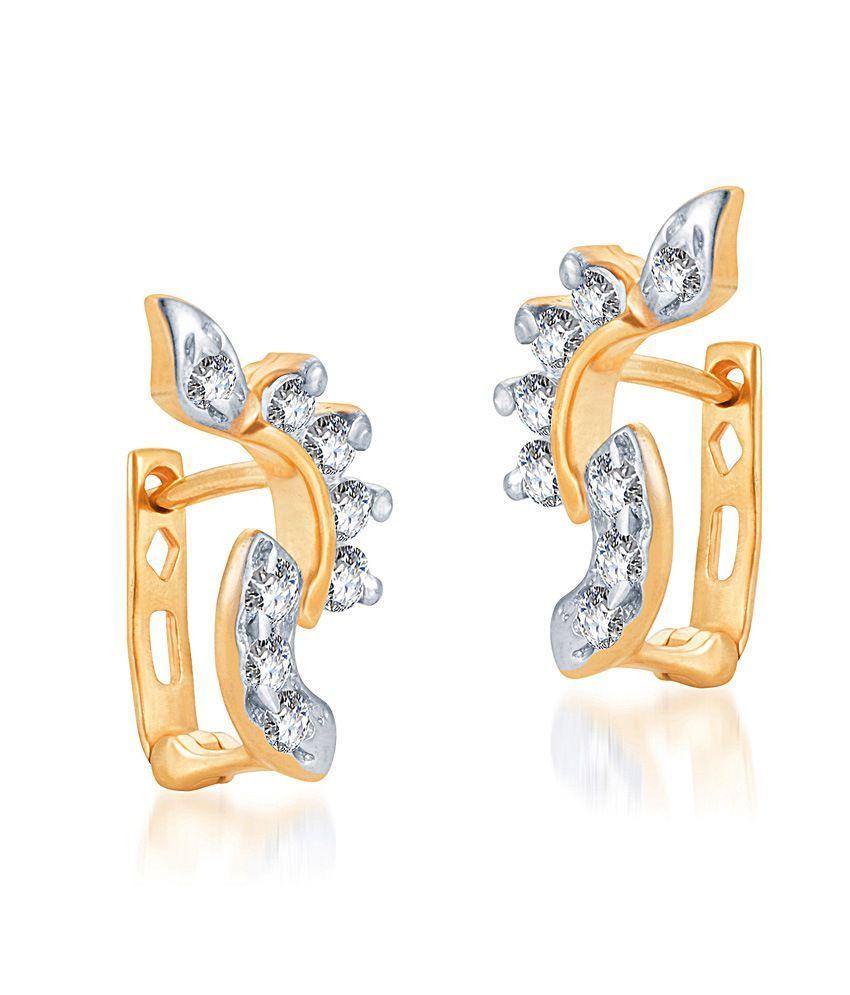 KaratCraft Anjala Earring -22kt Real Gold Bis Hallmark Jewellery