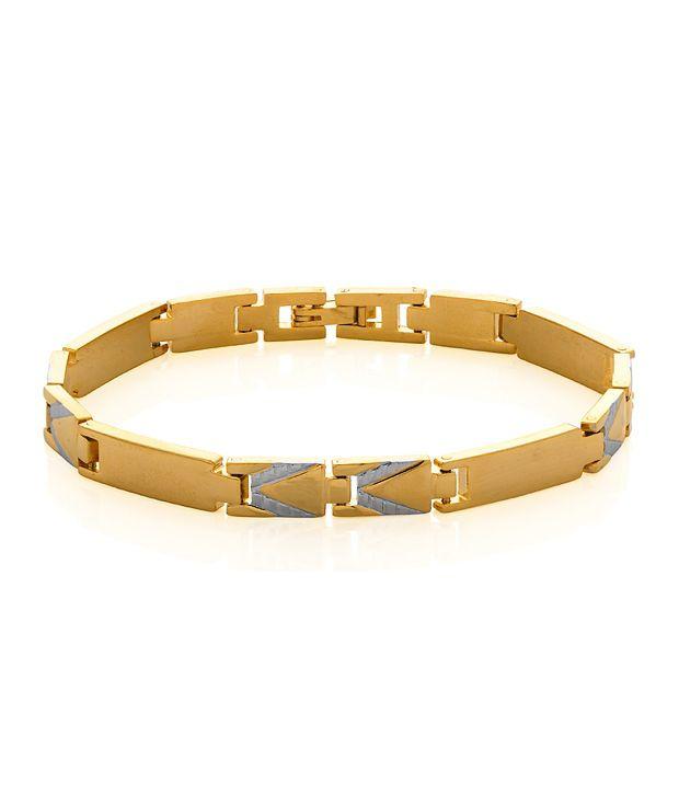 Voylla The 'V' Bracelet Featuring Sleek English Letter V Design