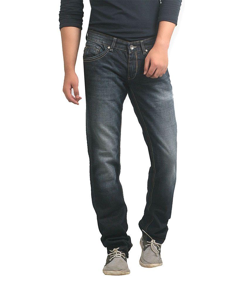 Ripfly Black Regular Jeans