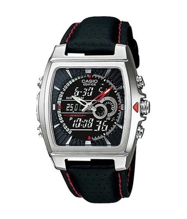 casio edifice analog digital watch for men black buy casio casio edifice analog digital watch for men black