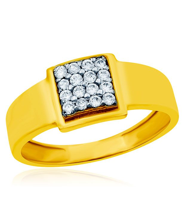 Gents Ring with 18 Kt Yellow Gold Plated By Navvya Jewellery