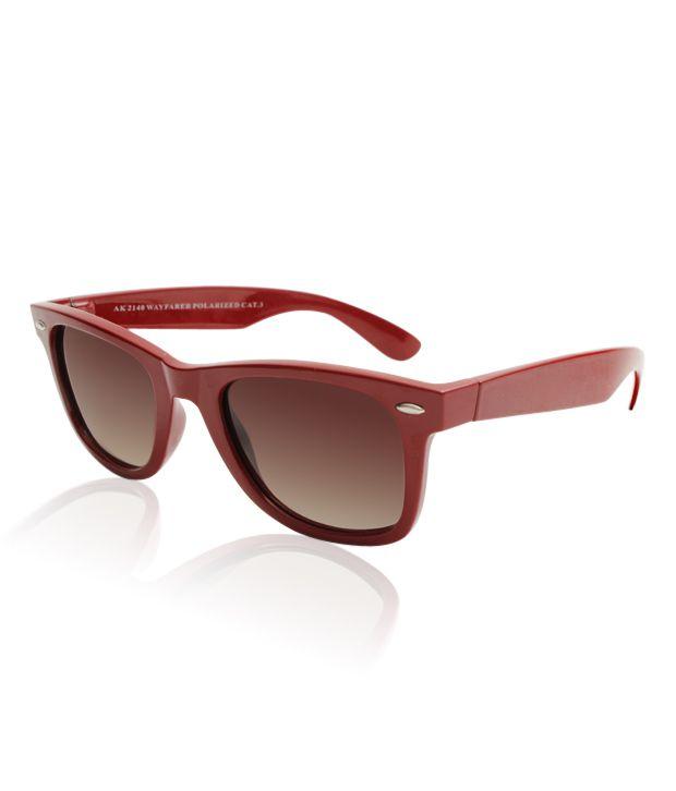 A.Klein Enthralling Brown Wayfarer Sunglasses