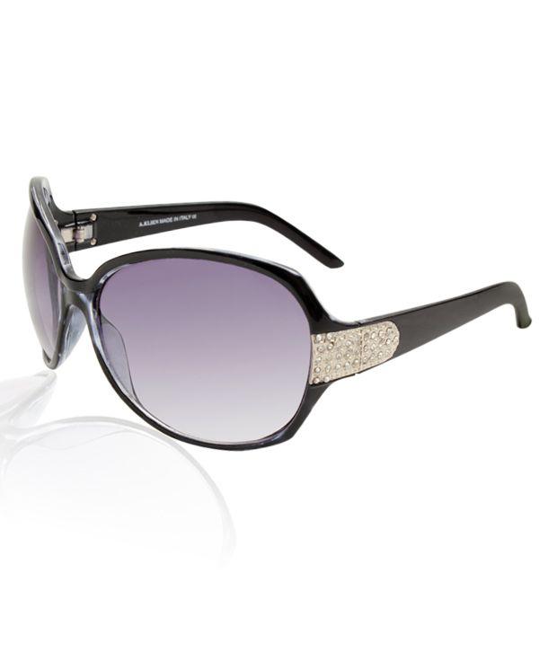 A.Klein Gorgeous Black Frame Sunglasses