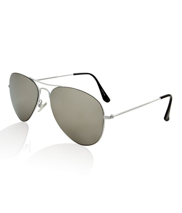 Color Line Fashionable White Frame Aviator