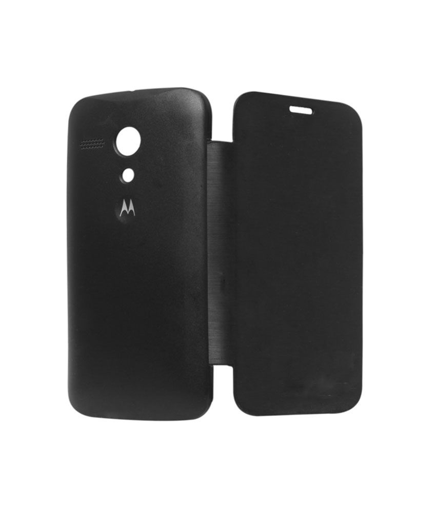 best authentic 9bdad 78fe4 Esstain Premium Leather Flip Cover Case For Moto G 1st Gen Black