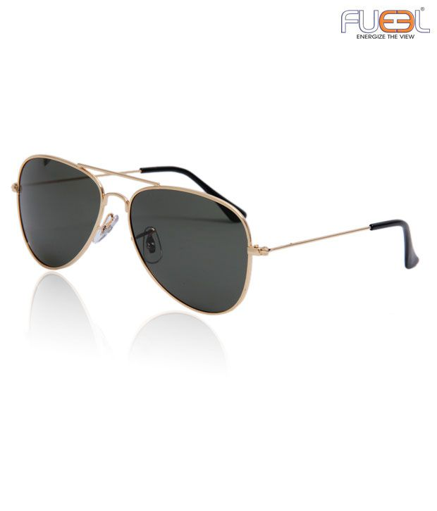 Fueel Gorgeous Gold Tone Frame Aviator Sunglasses