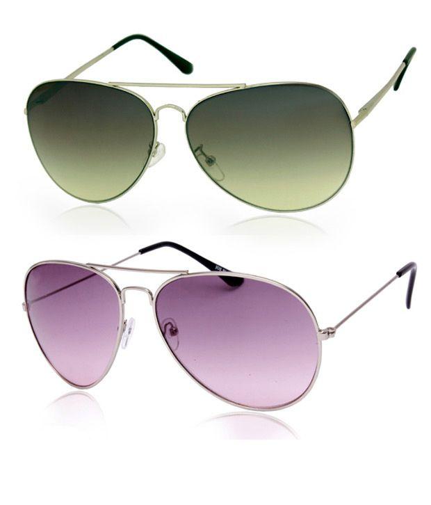 Joe Black Attractive Silver Aviator Buy 1 Get 1 Silver Purple Aviator Free