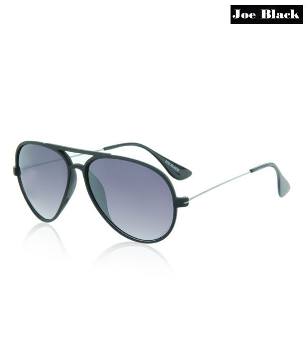 Joe Black Elegant Black Aviator Sunglasses
