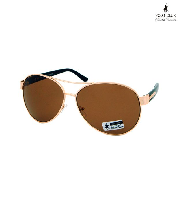 Polo Club Brown Metal Sunglasses