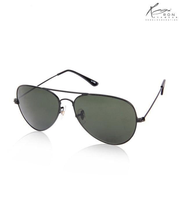 Ron Opulent Black Aviator Sunglasses