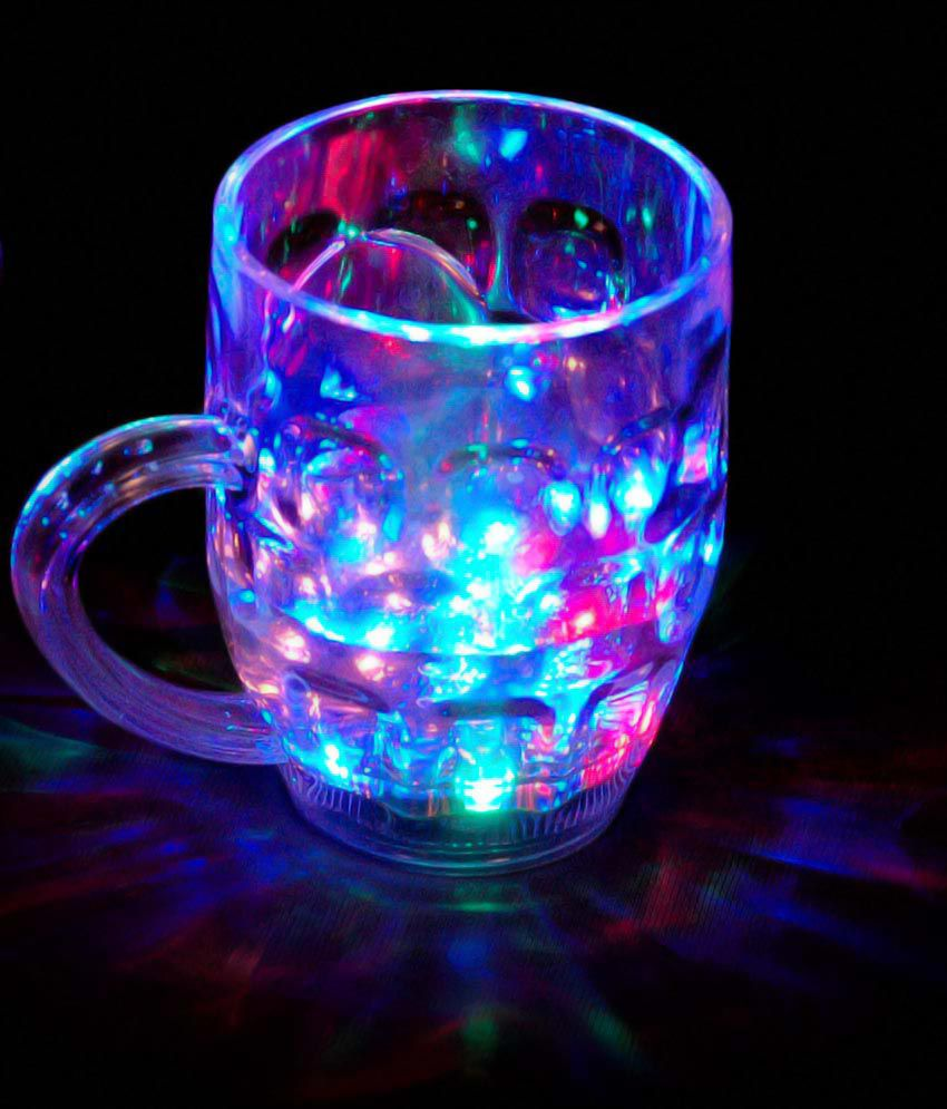 Magic Flashing Led 7 Colour Changing Liquid Activated Mug Beer Mugs Rainbow Colour Changing