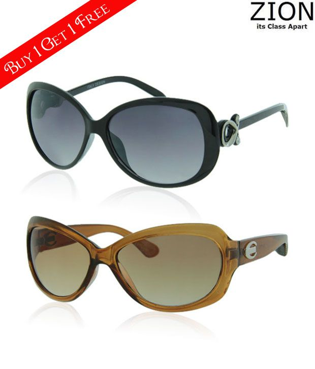 Zion Shiny Black & Beautiful Sunglasses-Buy 1 Get 1 Free