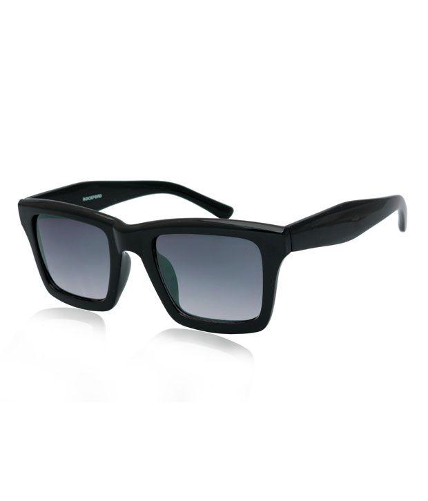 RockFord UN-RF-036-C1 Matte- Black Wayfarer Sunglasses