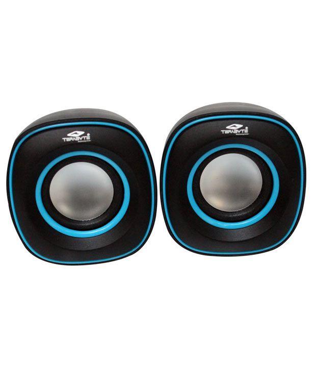 Terabyte-USB-Speakers-2-Computer-SpeakersBlue-&-Black
