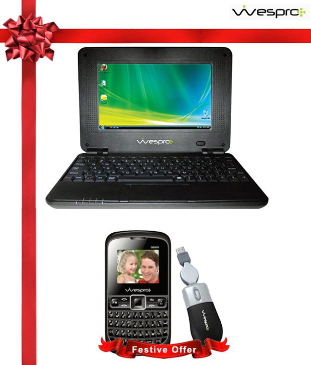 Wespro 7 Inch Mini Laptop (WIFI Connectivity) With Free Wespro Optical Mouse