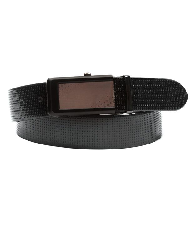 Ligans NY Black Formal Leather Belt For Men