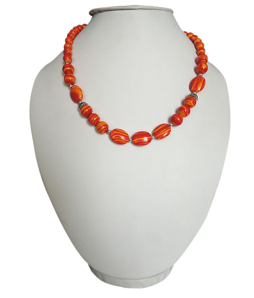 Pearlz Ocean Eccentric Howlite Beads 18 Inches Bold Necklace