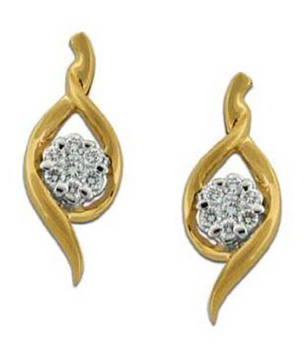 Avsar Avsar 18Kt Gold Curvaceous Beauty Diamond Studs (Yellow)