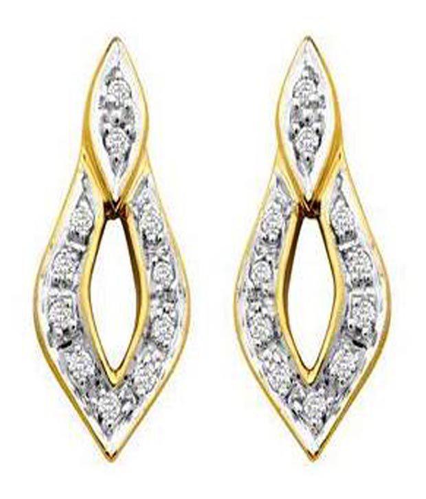 Avsar Avsar 18Kt Gold Diamond Flame Studs (Yellow)