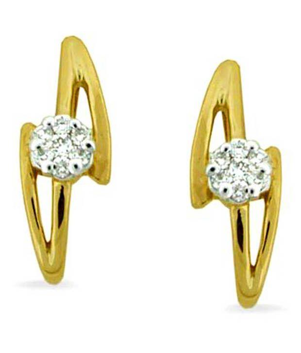 Avsar Avsar 18Kt Gold Enlightening Flower Diamond Studs (Multicolor)