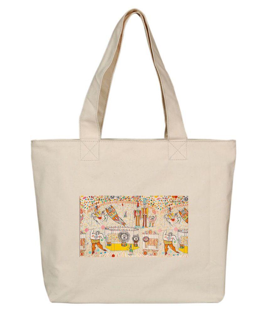 OXA SDH123 Beige Tote Bags