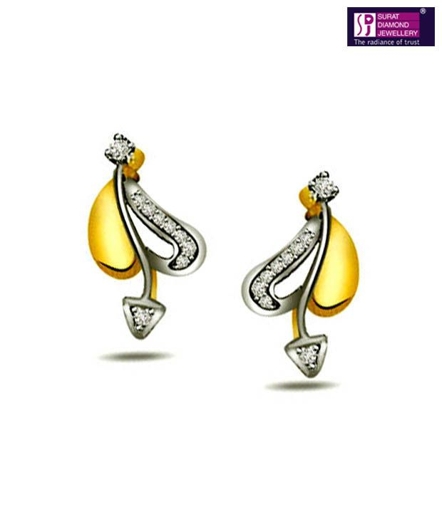 Surat Diamond Angelic Hearts 18kt Gold Earrings