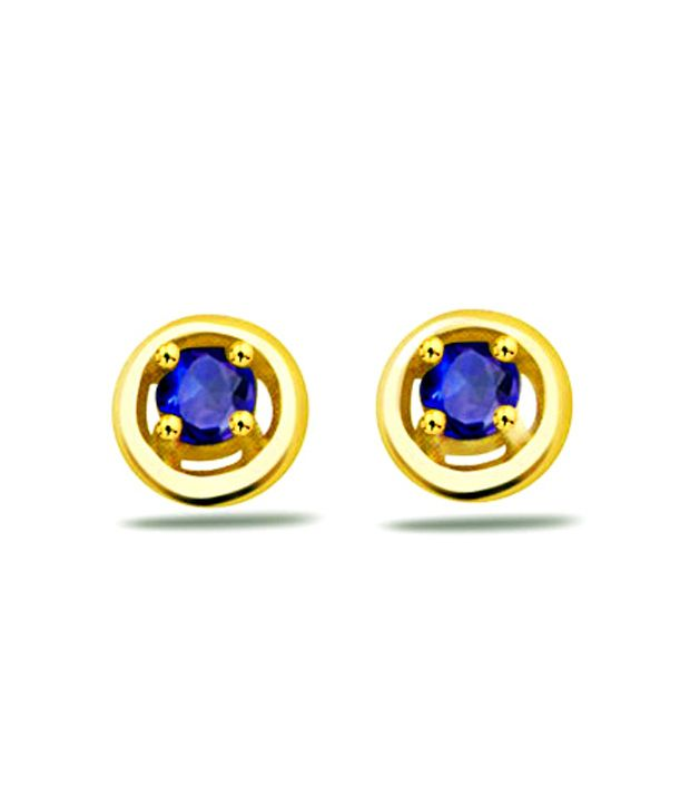 Surat Diamond Round Sapphire Earrings