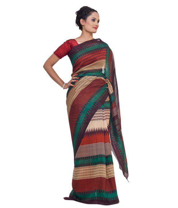 Vida Beige Banarasi Art Silk Saree